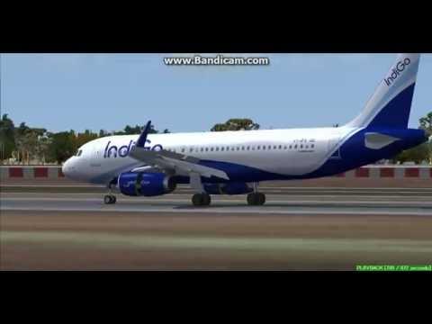 IndiGo A320 Varanasi International Airport India VIBN Landing FS9