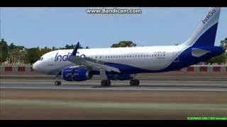 IndiGo A320 Varanasi International Airport India VIBN Landing FS9