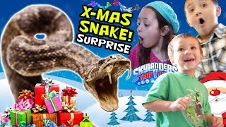 Christmas Snake Surprise! Presents for the Kids on X-Mas Morning! (Skylanders Trap Team Wave 3)