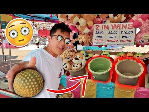 IMPOSSIBLE CARNIVAL GAME CHALLENGE!!! (HACKS 100% WIN EVERY TIME)