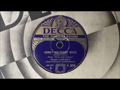 "Elsie Carlisle - ""Honey-Coloured Moon"" (1935)"