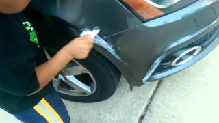 Fix car scratch with toothpaste ( 1 of 2)