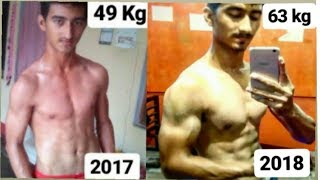 Bharat Chand   1 Year Incredible Natural Body Transformation   From Skinny to Fit