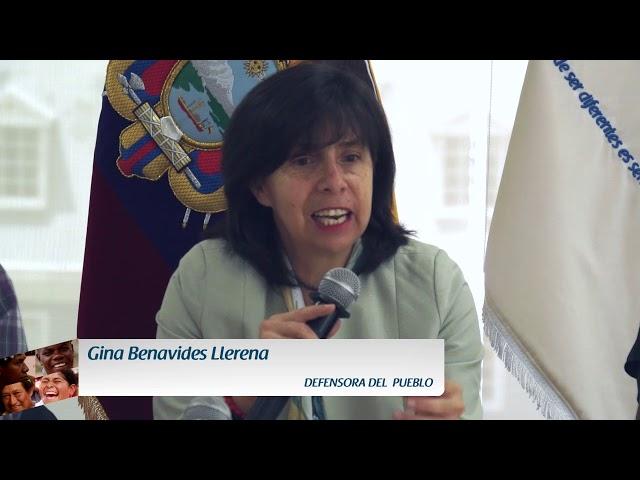Rueda de Prensa  Defensoría del Pueblo y A\'I Cofán