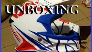 Unboxing MX helmet Airoh TERMINATOR 2.1 cut GLOSS