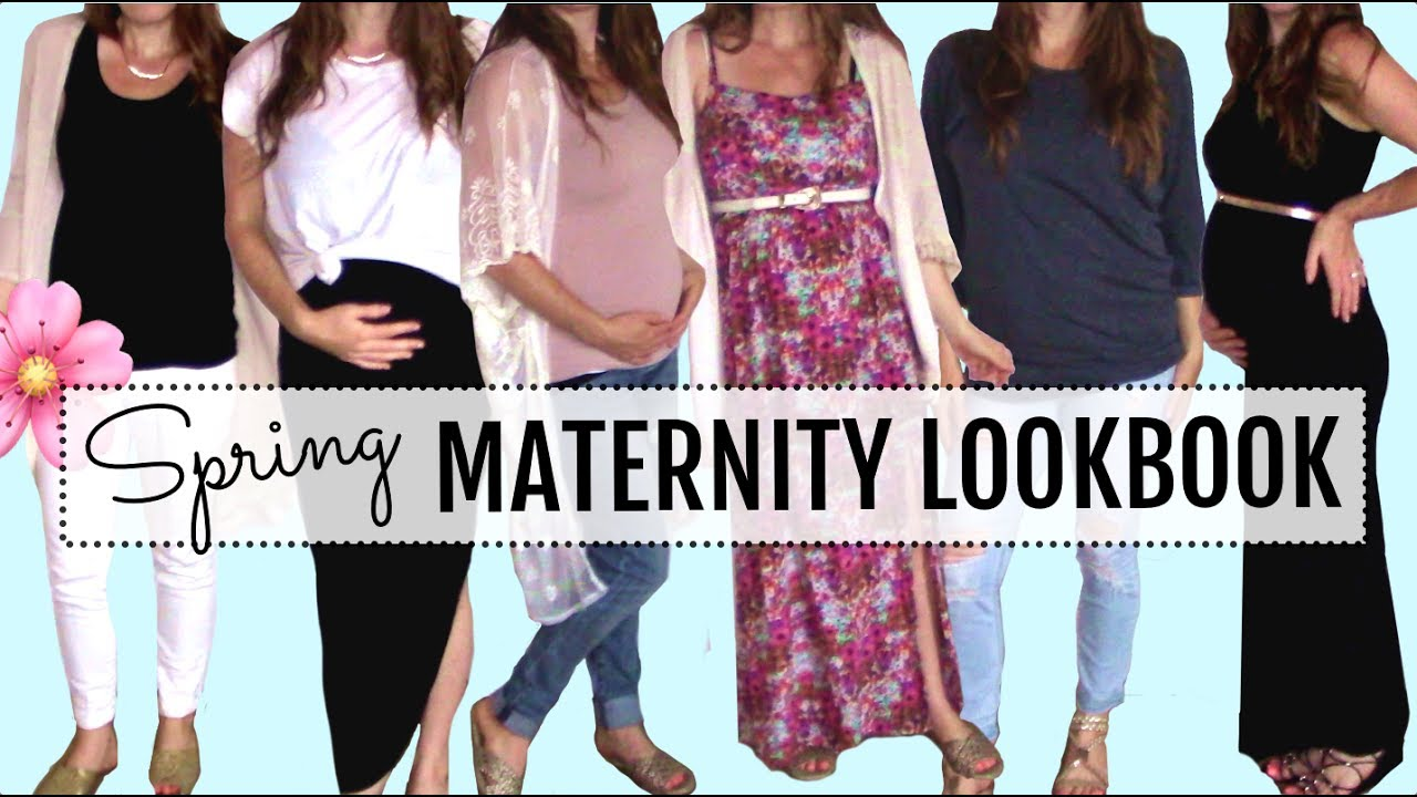 Spring Maternity Lookbook 2017 - Mom Outfit Ideas! 1