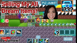 """Selling All My Dream Items!"" (HOW MANY BLUE GEM LOCK!?) OMG!! - Growtopia"