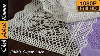 Homemade Edible Sugar Lace Recipe | How to make Sugar Lace for Cake