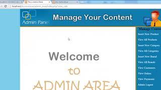 E Commerce Website in PHP & MySQL Part 52   Admin Panel