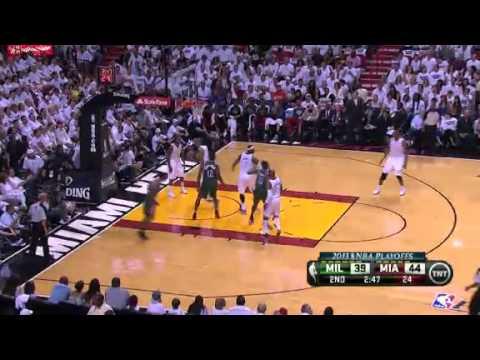 NBA Playoffs 2013: NBA Milwaukee Bucks Vs Miami Heat Highlights April 21, 2013 Game 1