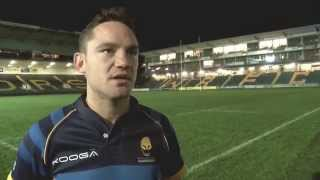 Worcester's Ryan Lamb speaks after their La Rochelle victory | Rugby Video Highlights