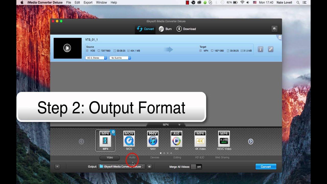 iskysoft imedia converter deluxe for mac tutorial
