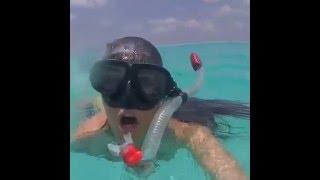Valentina Vignali, topless involontario alle Maldive