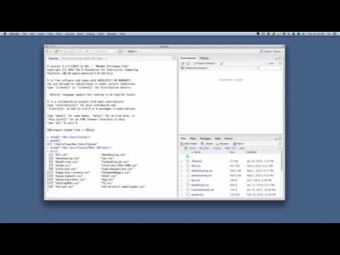 RStudio Basics: Setting your Working Directory