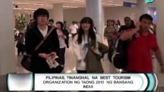 Pilipinas, tinanghal na best tourism organization ng taong 2013 ng bansang India [04|08|14]