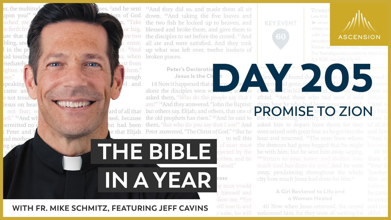 Day 205: Promise to Zion — The Bible in a Year (with Fr. Mike Schmitz)