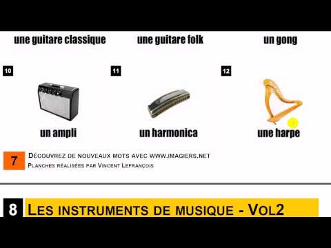 Learn French = Vocabulary #Les herbes + Les instruments de musique