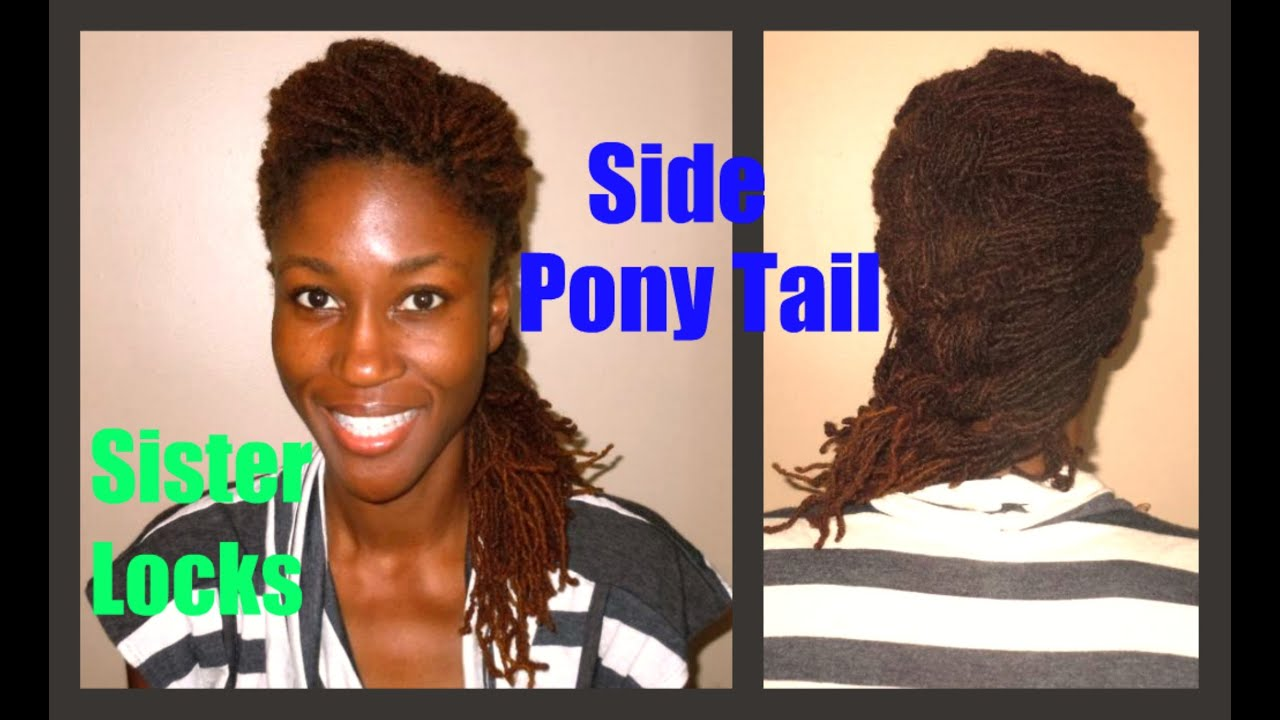 Loc Style Tutorial | Side Pony Tail - YouTube