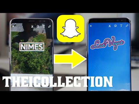 Changer la localisation d'un compte Snapchat