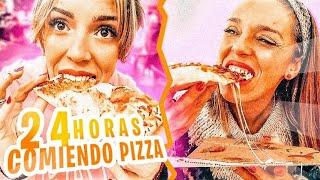 24 HORAS COMIENDO PIZZA🍕RETO de COMIDA!!