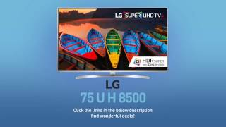 LG 75UH8500 Super UHD 4K HDR Smart LED TV - 75