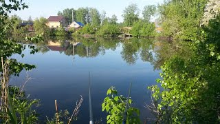 Рыбалка на озере Очки Золотая горка