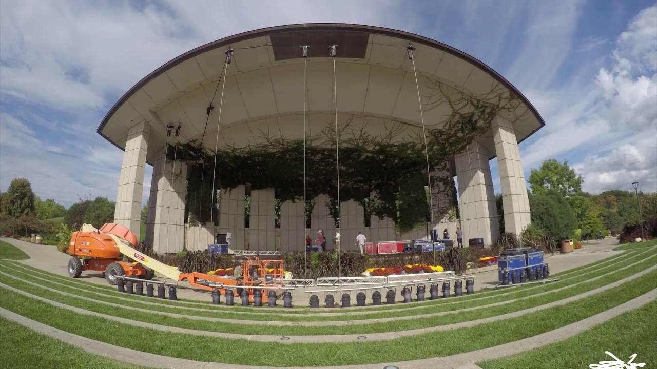 Frederik Meijer Gardens Amphitheater Equipment Removal - YouTube