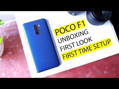 Pocophone F1 Unboxing & First Setup   Initial Boot