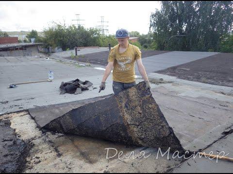 видео: Покрываем крышу гаража технониколем своими руками.