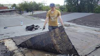 Покрываем крышу гаража технониколем своими руками.(Смотрите все наши действия в фотографиях на сайте http://delamaster.ru/kry-sha/kak-ya-pokryval-kryshu-garazha-svoimi-rukami-lichnyj-opyt.html ..., 2014-11-04T17:39:09.000Z)