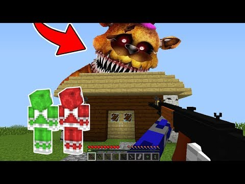 POWER RANGERS DEFENDEM A CIDADE DOS ANIMATRONICS FIVE NIGHTS AT FREDDY'S NO MINECRAFT !