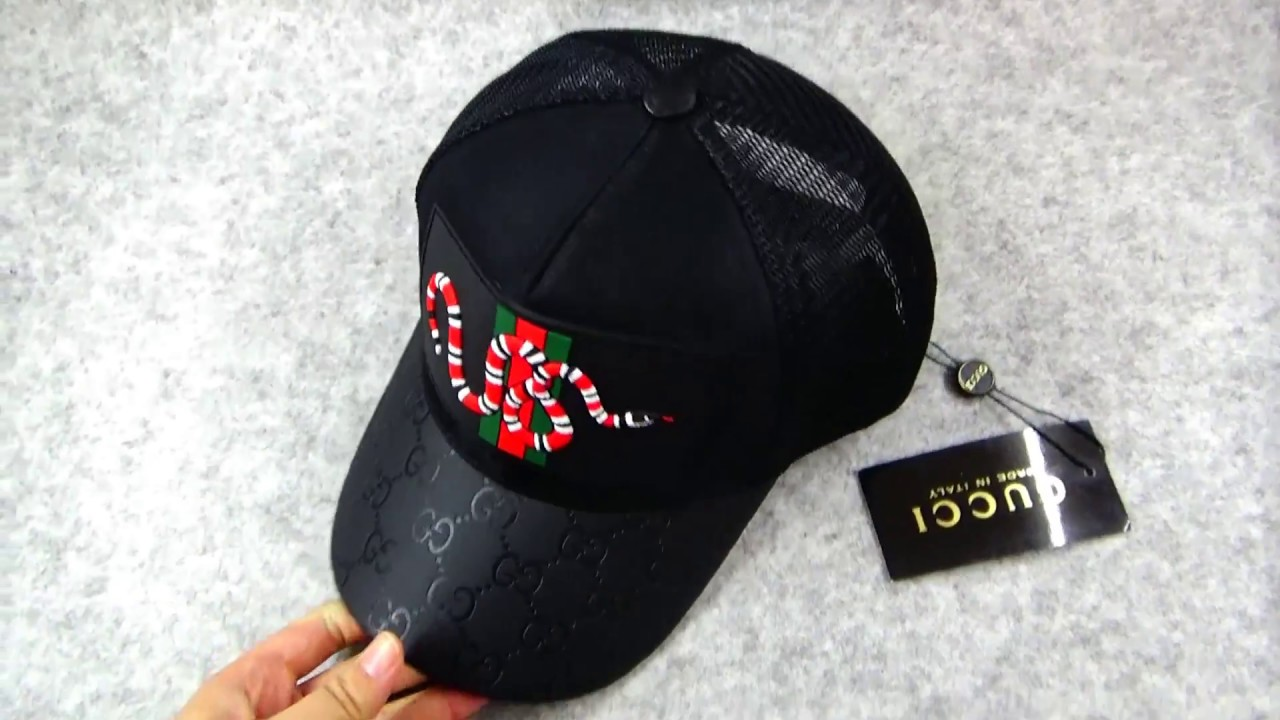 4271a977e65 Gucci Hat Snake Detailed Review from SUPLOOK - YouTube