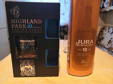 Дегустация и сравнение шотландского односолодового висики Highland Park 10 Vs JURA 10