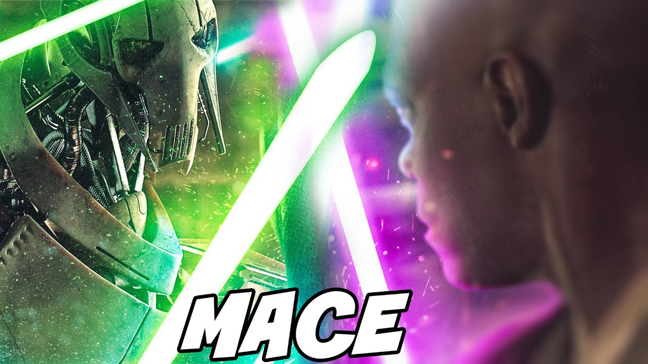 Mace Windu Fights Grievous Before Revenge Of The Sith Star Wars Explained Youtube