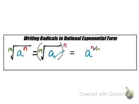 exponential form