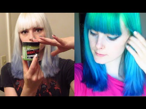 Dyeing My Hair Bright Green And Blue! Ombre Hair Dye Tutorial
