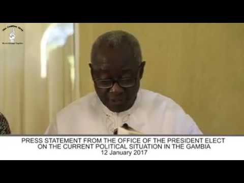Halifa Sallah Press Conference on the Current Political Situation in The Gambia 12th January