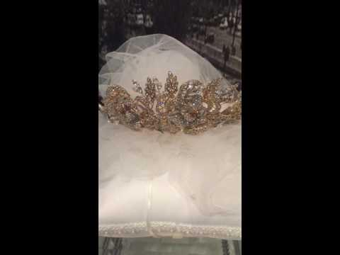 Bettina   Bridal Tiara Gold 14kt video 1