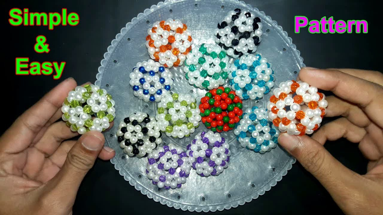 How to make beaded ball simple and easy pattern beads for How to make beads craft