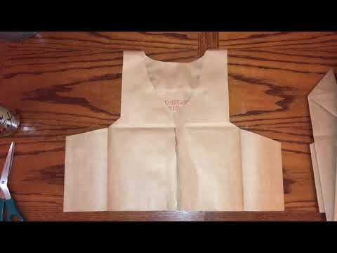 Simple Paper Bag Vest