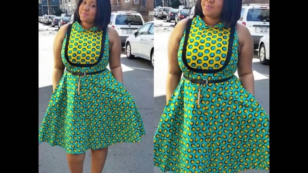 Lovely Ankara Style Short Gown For Beautiful Ladies