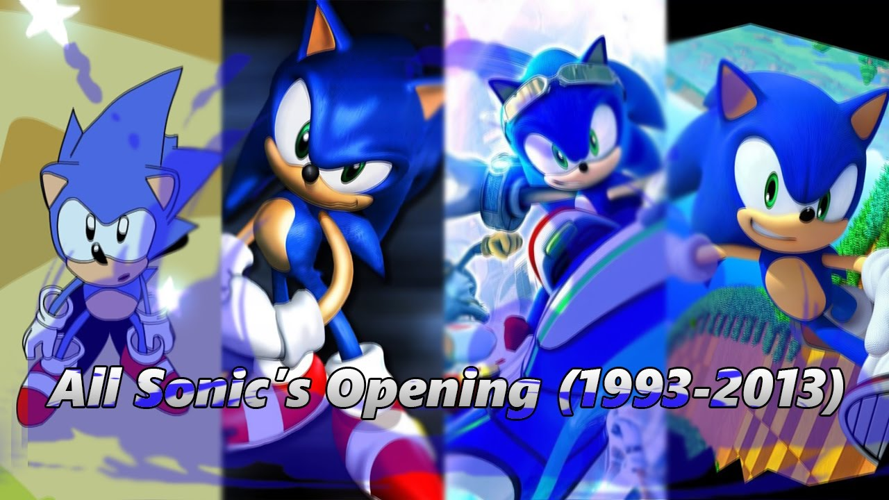 update all sonic games opening 1993 2013 youtube
