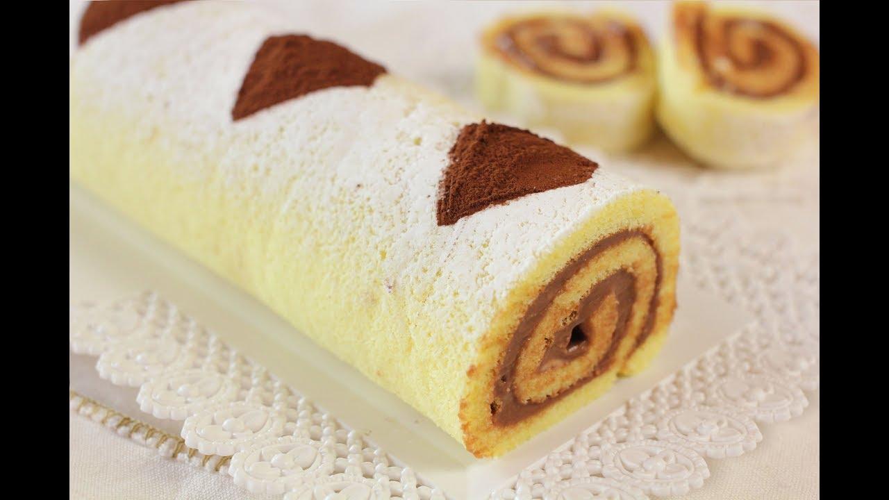 Libro Le Ricette Di Misya rotolo alla nutella di benedetta ricetta facile - nutella swiss roll