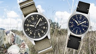 Seiko 5 Military Watches with Hand Winding and Hacking - 40mm Cases