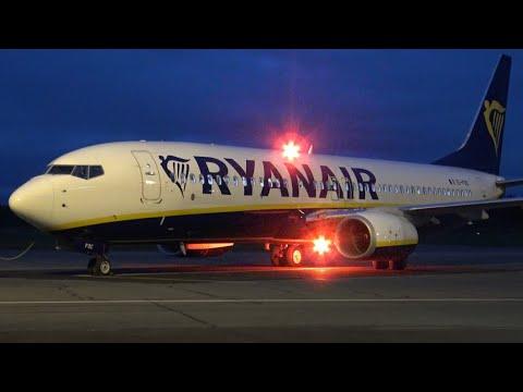 4K | Ryanair Boeing 737-800 EI-FOC Full Turnaround at Tampere-Pirkkala (EFTP)