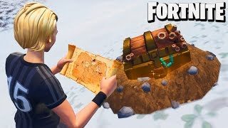 EM BUSCA do TESOURO DO FORTNITE!!! (Battle Royale)
