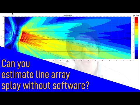 Can you estimate line array splay in the field without software?