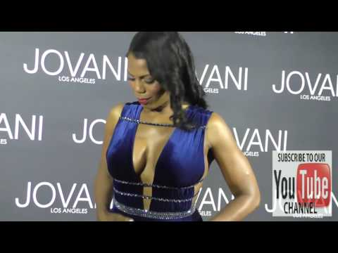 Omarosa Manigault at the Jovani LA Flagship Opening at Jovani in Beverly Hills