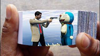 Mr. Bean Cartoon FlipBook #3   Angry Bean Kills Doraemon Flip Book   Flip Book Artist 2021