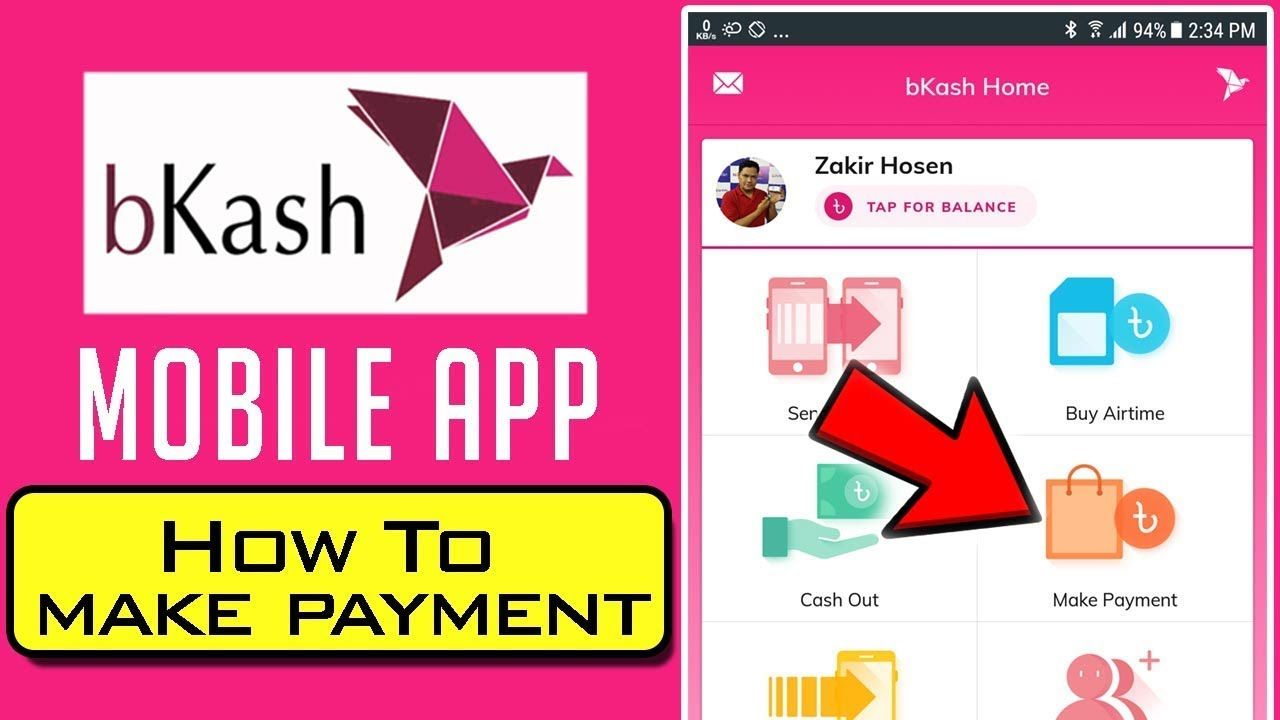 bKash Mobile App- How to Make bKash Merchant Payment from bKash App in  Bangla